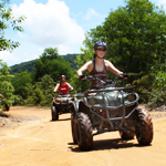 1 Hour ATV Tour + Flying Fox and Rope Bridge in Phuket