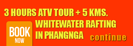 ATV Phangnga, 3 Hours ATV Tour + 5 KMS. Whitewater Rafting in Phangnga